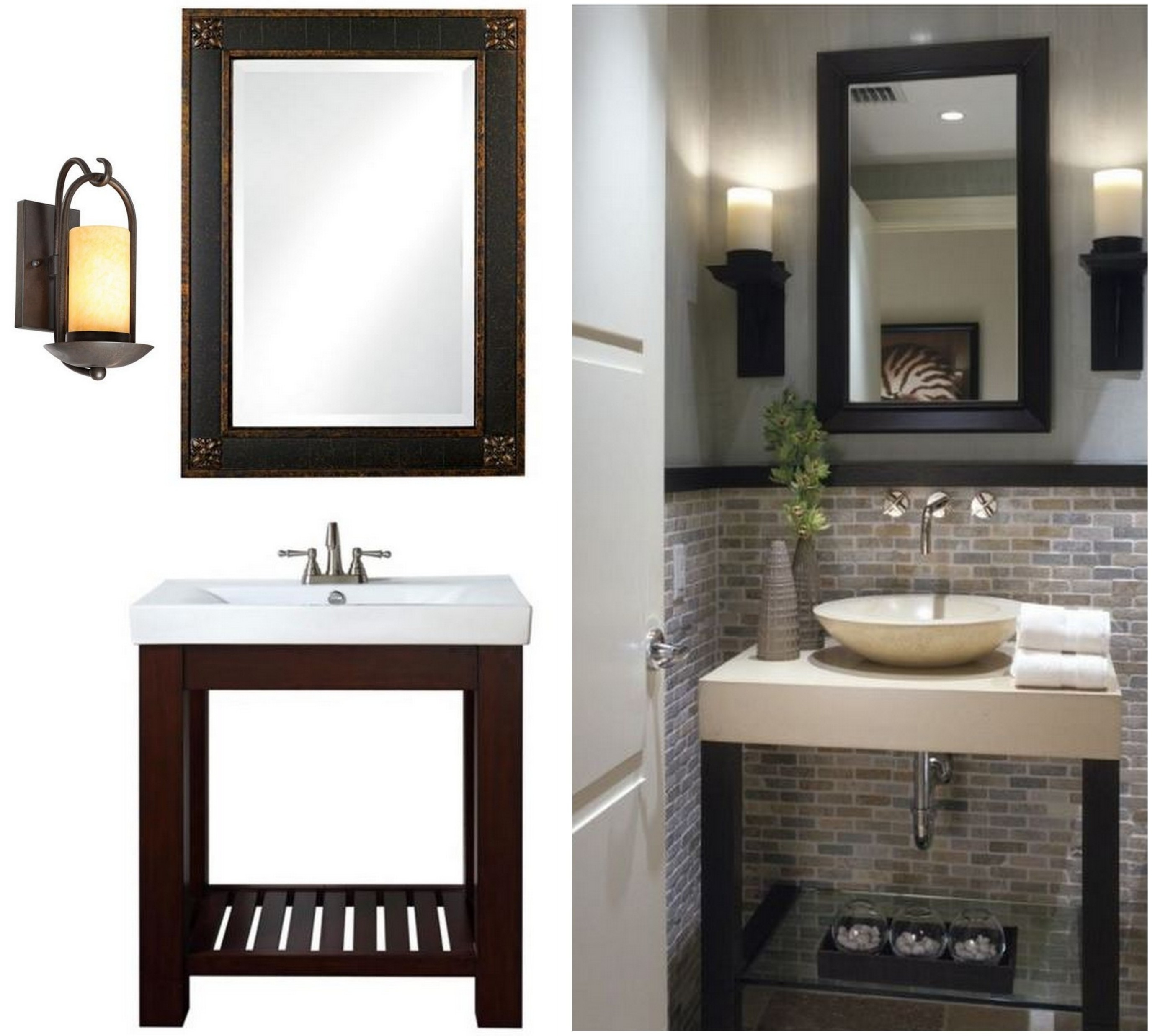 Permalink to Small Bathroom Vanity Mirror Ideas