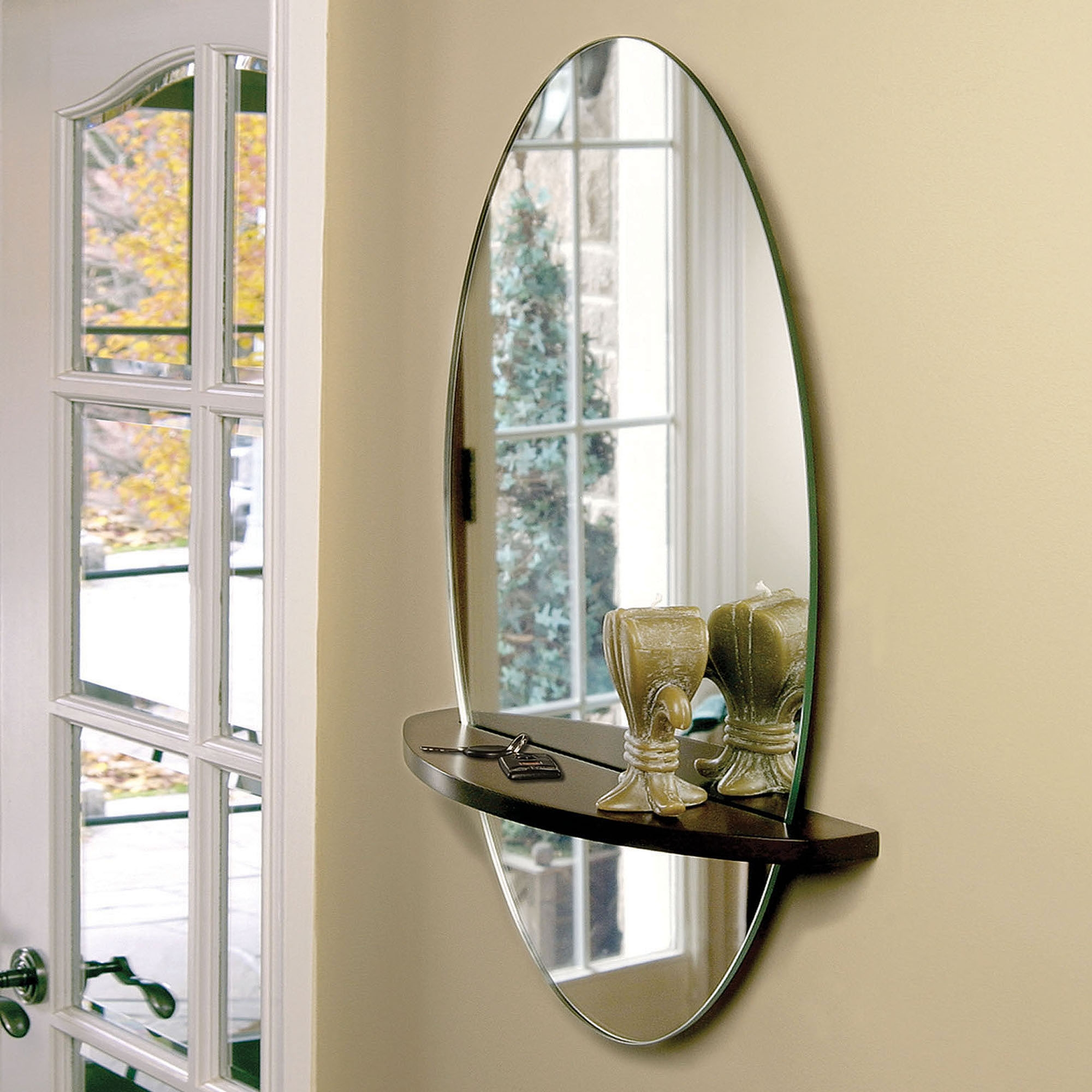 Small Wall Mirror With Shelf