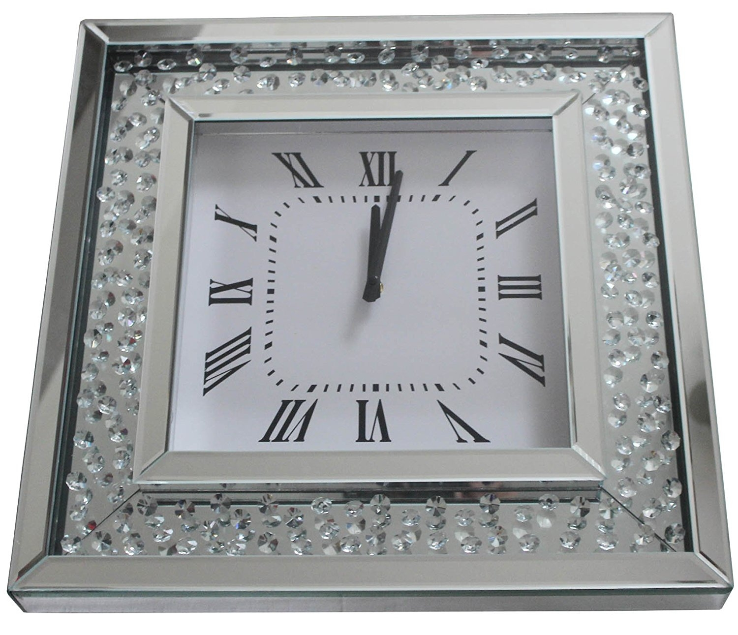 Square Mirror Wall Clock