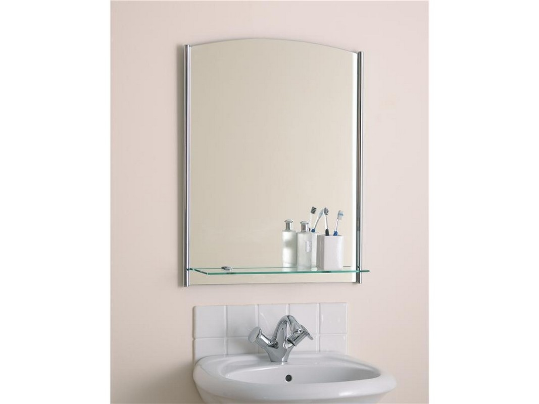 Stainless Steel Bathroom Mirror With Shelf