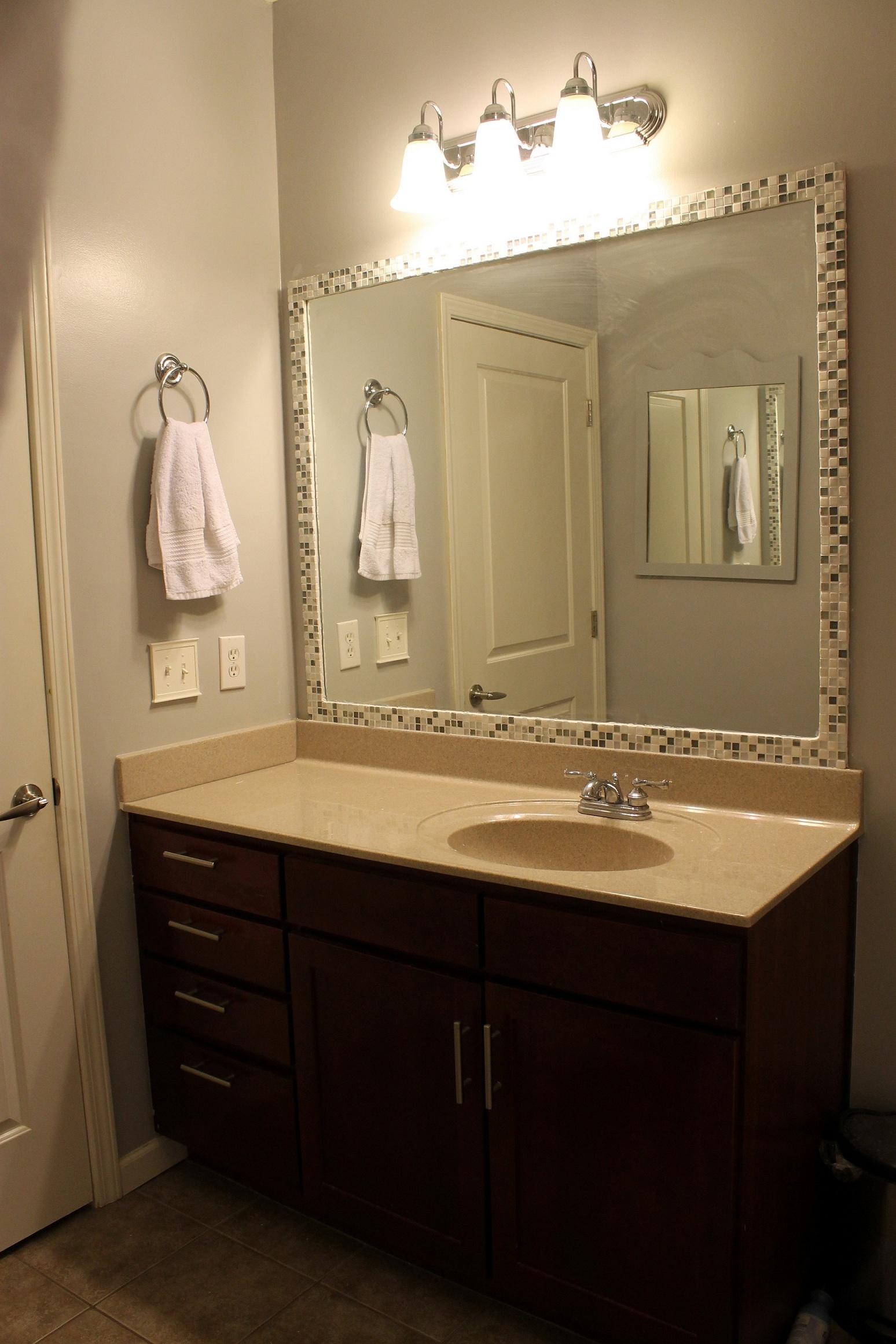 Stick Mirror To Bathroom Wall