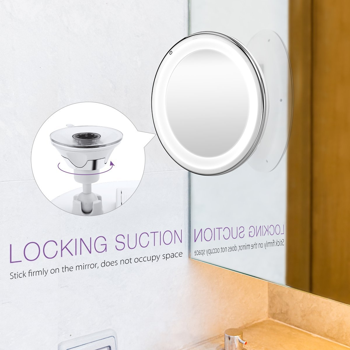 Stick On Bathroom Magnifying Mirror7x magnifying vanity mirrors macoku natural daylight crystal