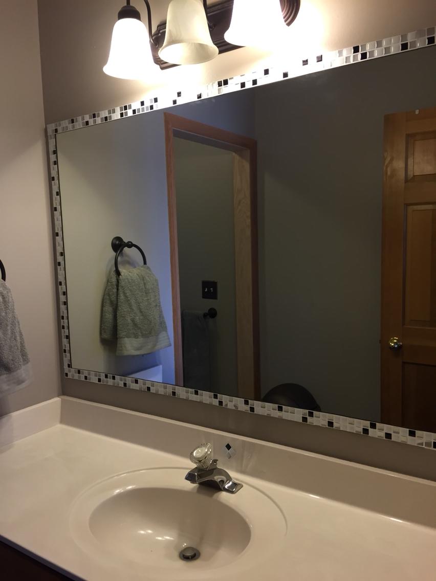 Stick On Bathroom Mirror Tiles
