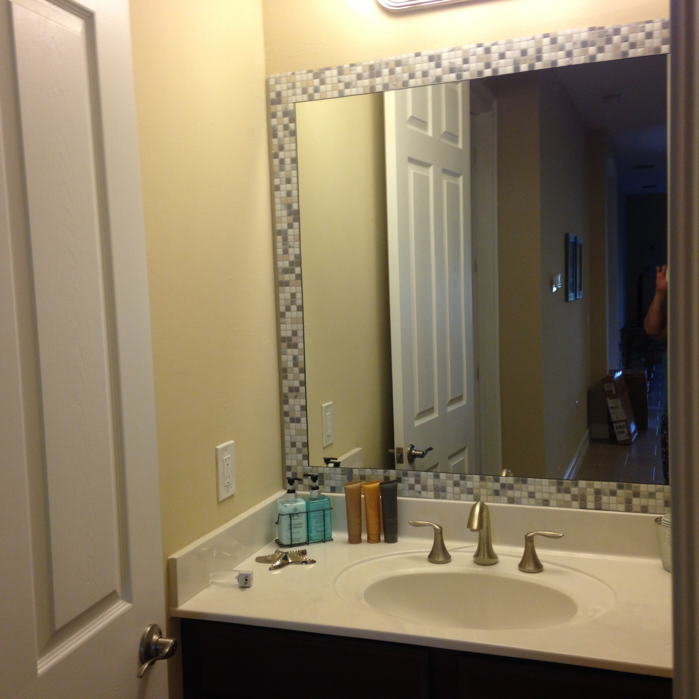 Stick On Frame Adhesive Frame For Bathroom Mirrors