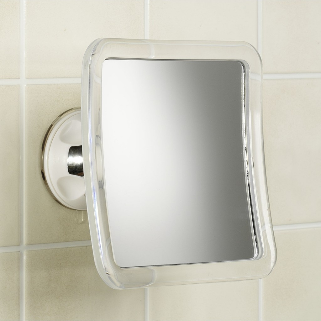 Suction Mounted Bathroom Mirror