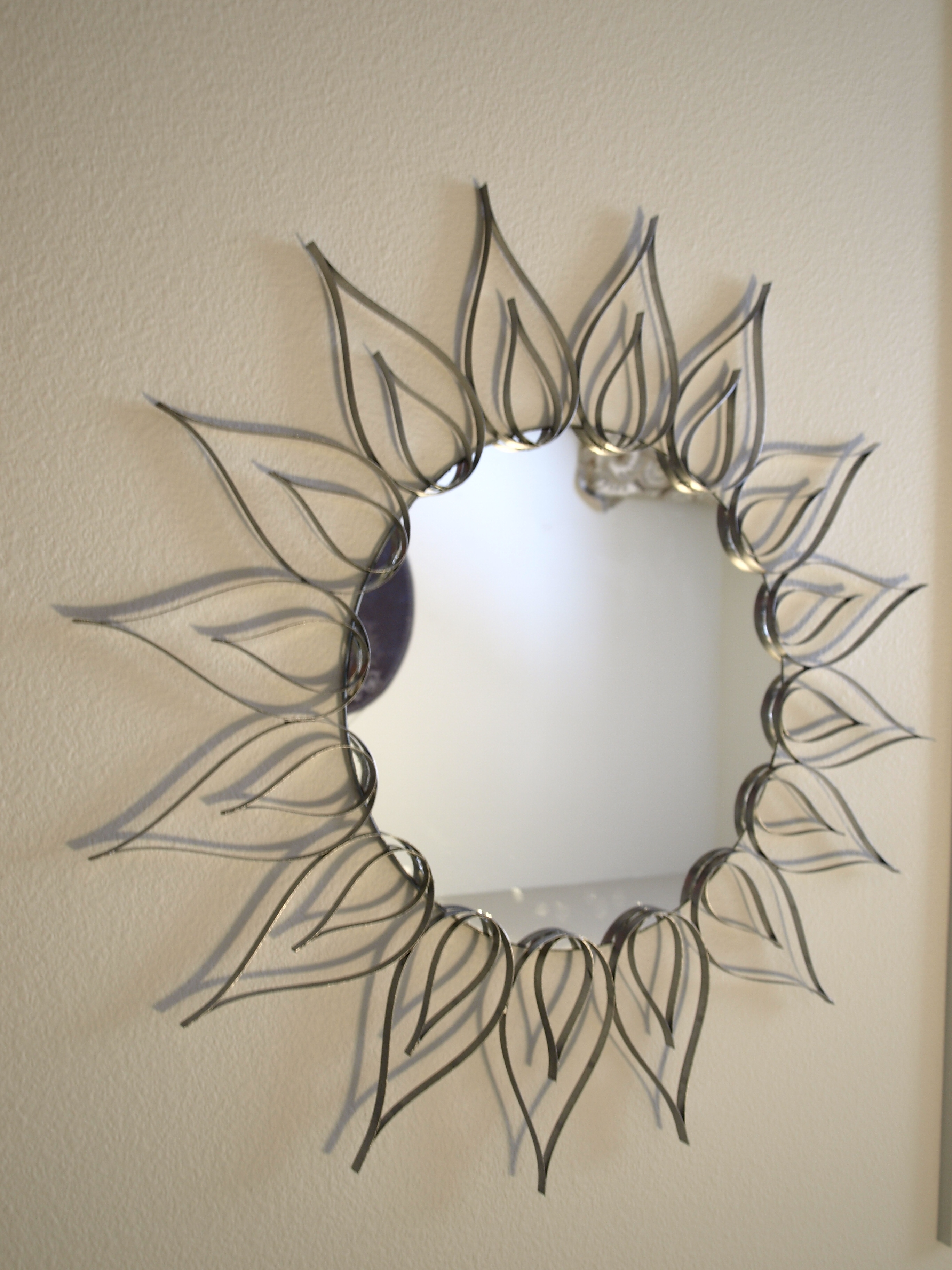 Sunburst Metal Mirror Wall Decor
