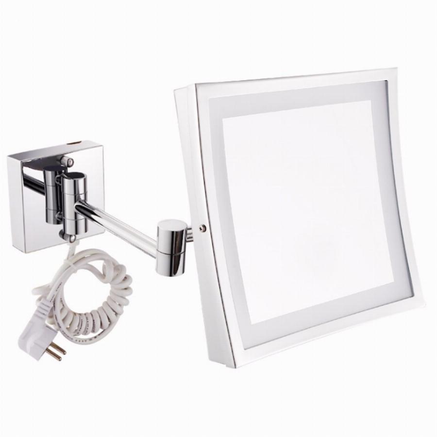 Telescopic Cosmetic Wall Mirror