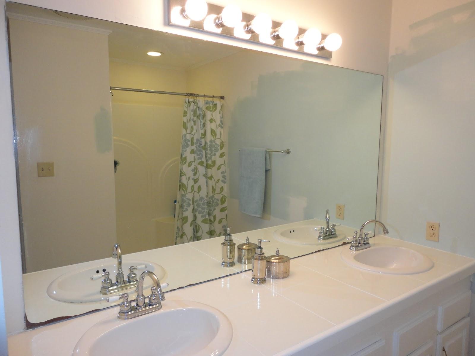 Tile Trim Around Bathroom Mirror