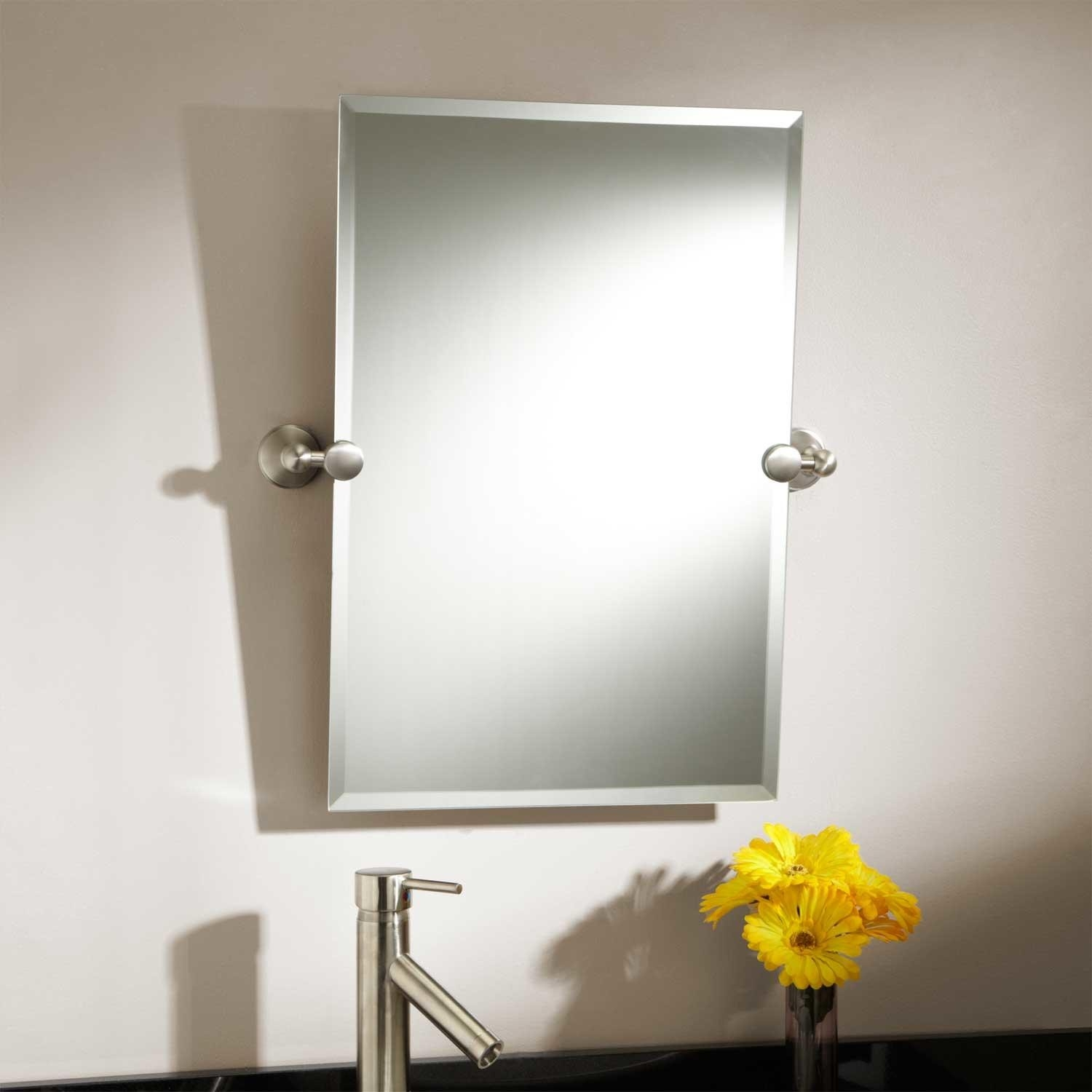 Tilting Bathroom Mirror Brushed Nickel24 seattle rectangular tilting mirror bathroom