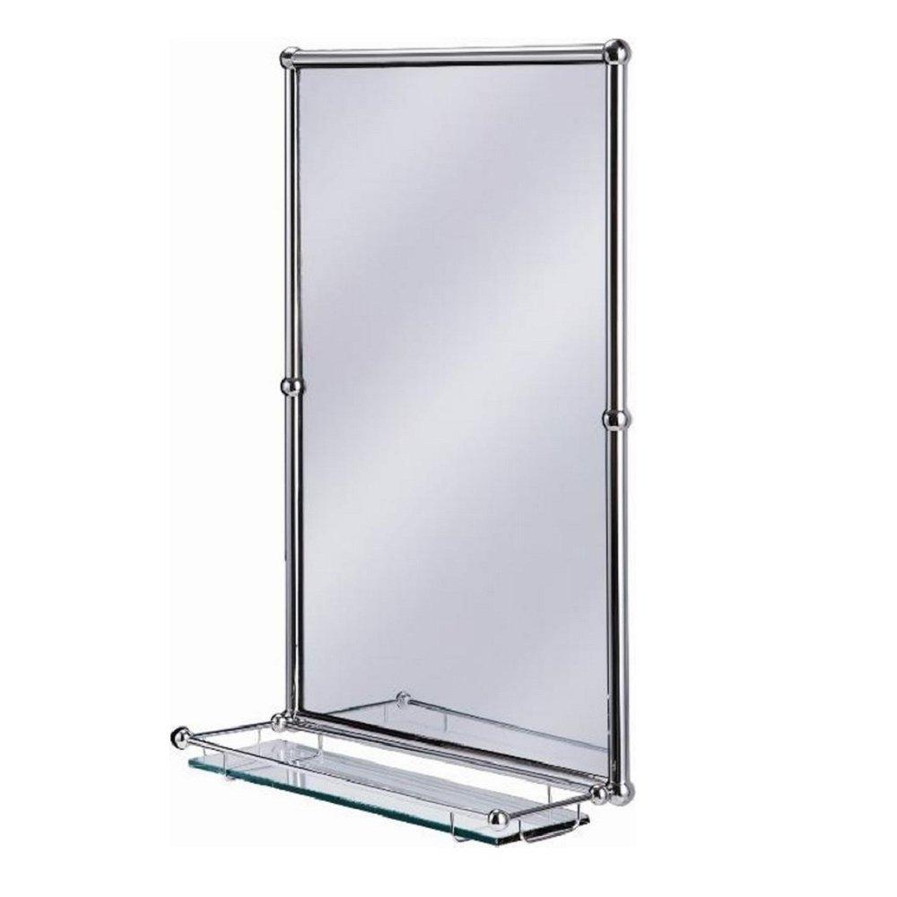Traditional Bathroom Mirror With Shelf