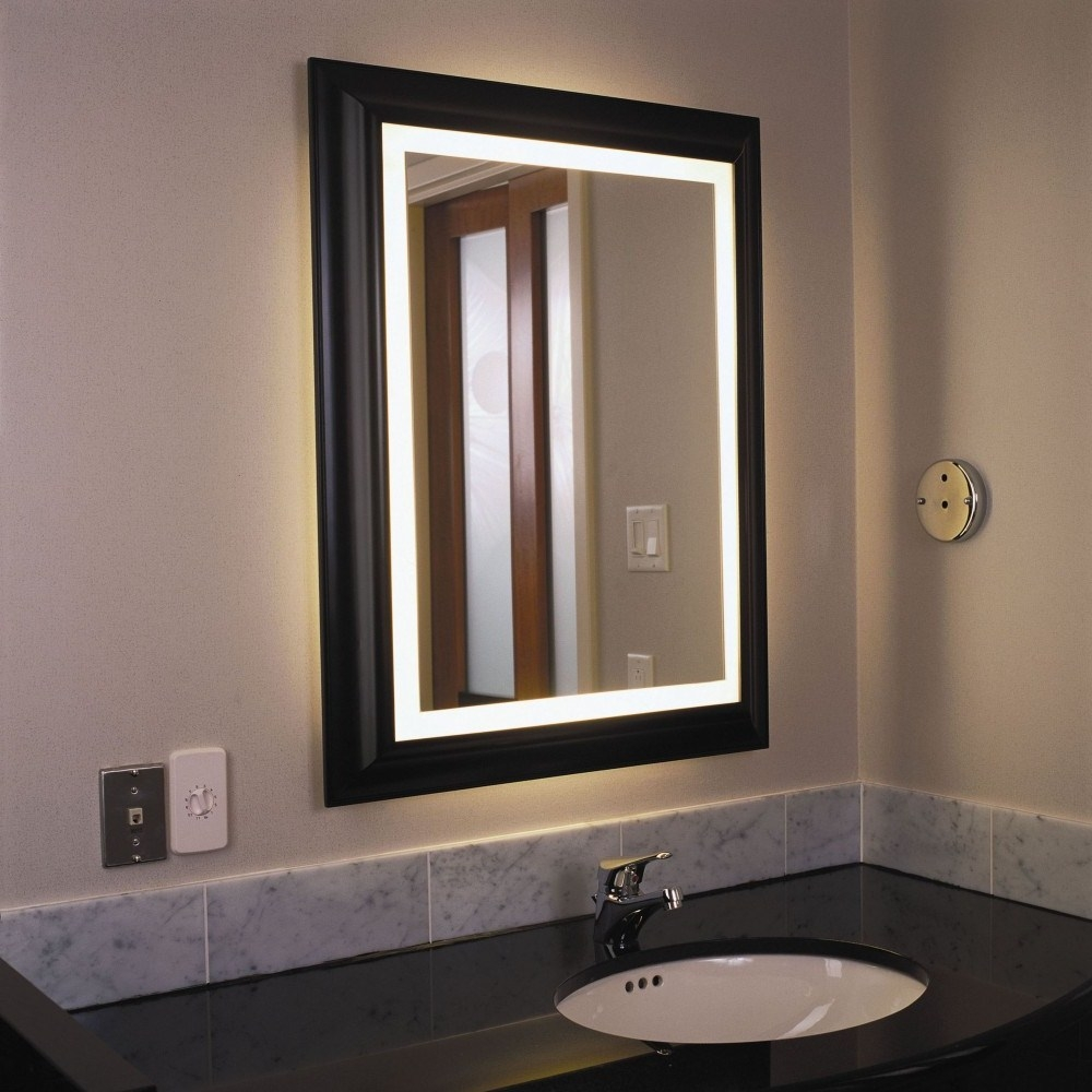 Traditional Illuminated Bathroom Mirror
