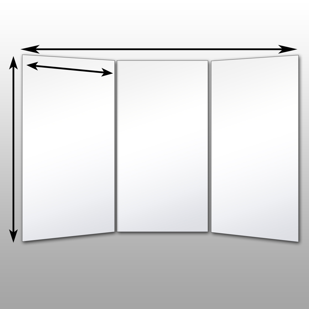 Tri Fold Mirror Wall Mount