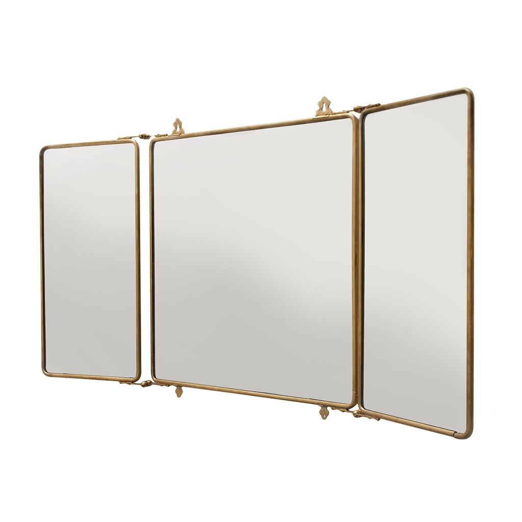Tri Fold Wall Mounted Mirror Bathroom