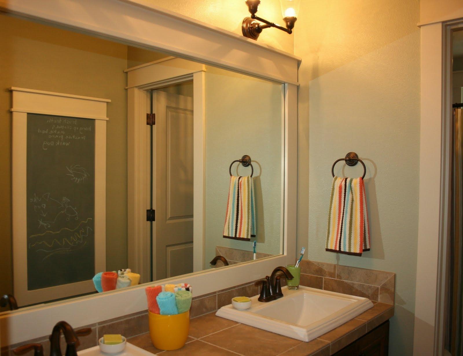Trim Out Bathroom Mirror