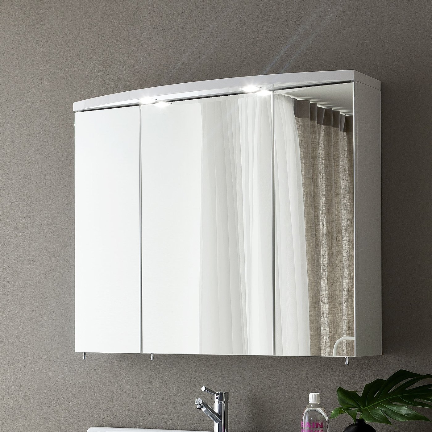 Triple Mirrored Bathroom Wall Cabinet