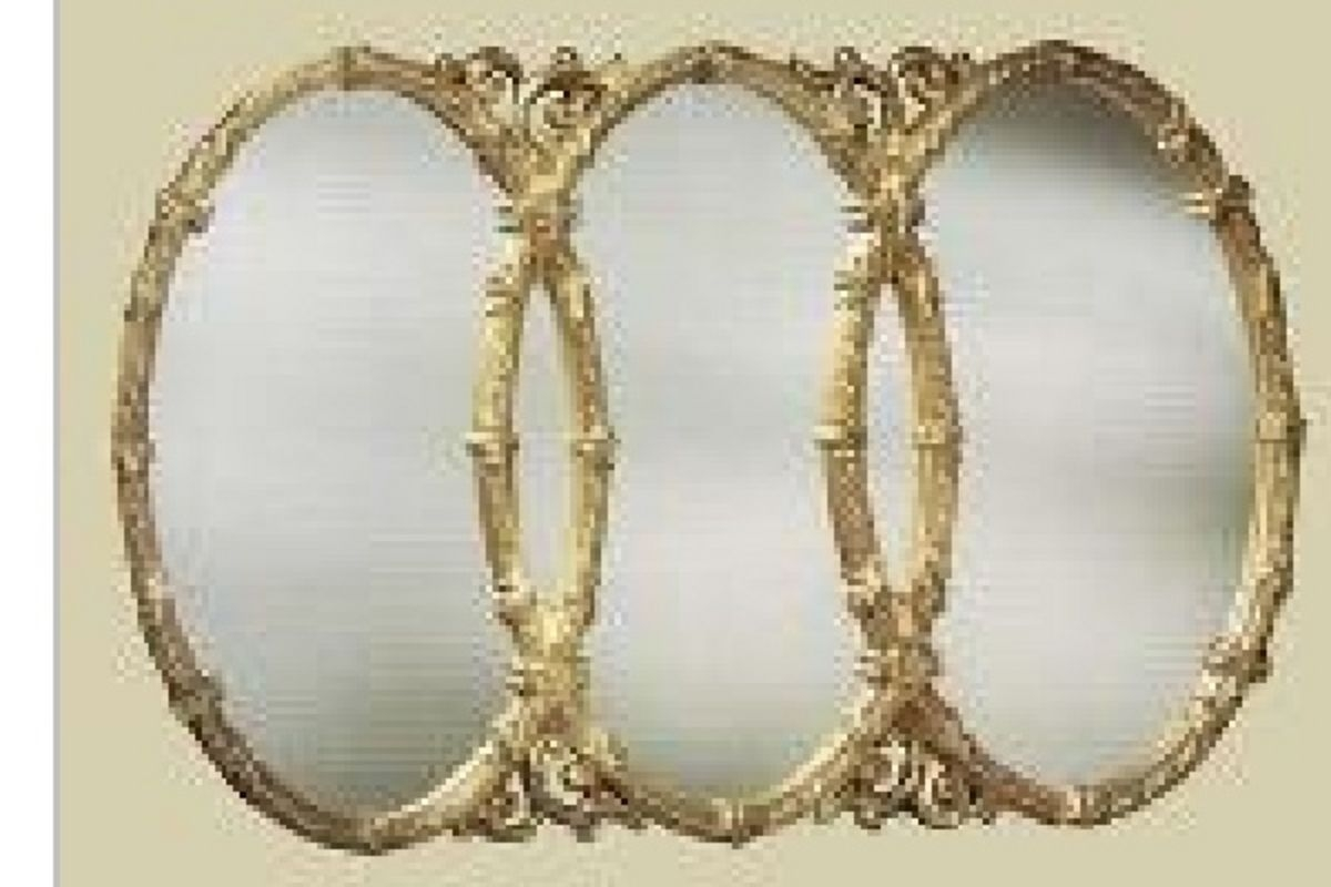 Triple Oval Wall Mirror
