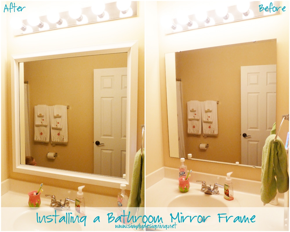 Update Bathroom Mirror With Frame
