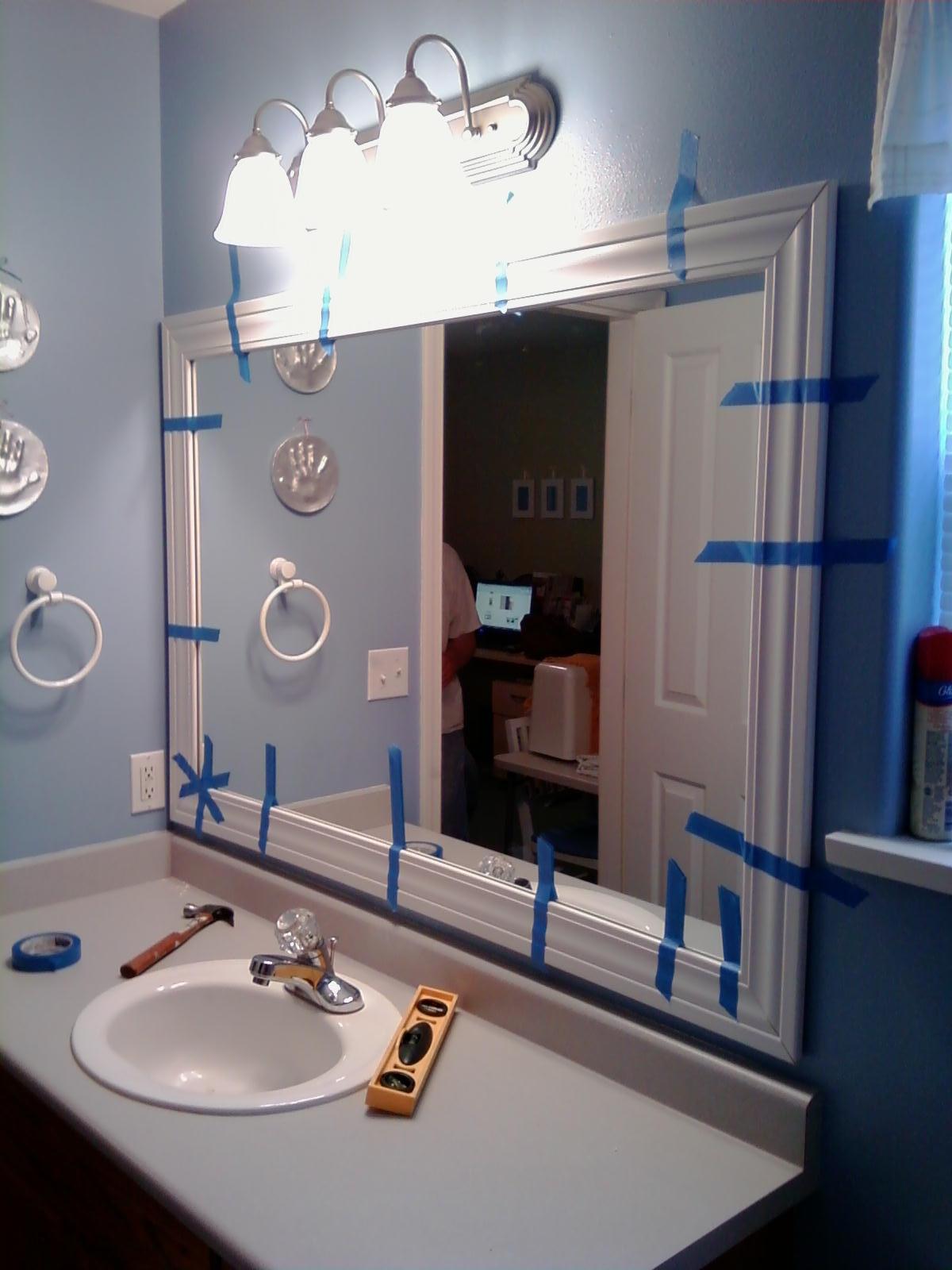 Update Ugly Bathroom Mirror