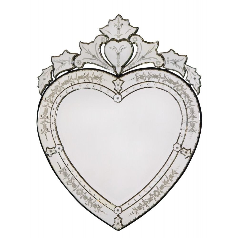 Venetian Heart Shaped Wall Mirror