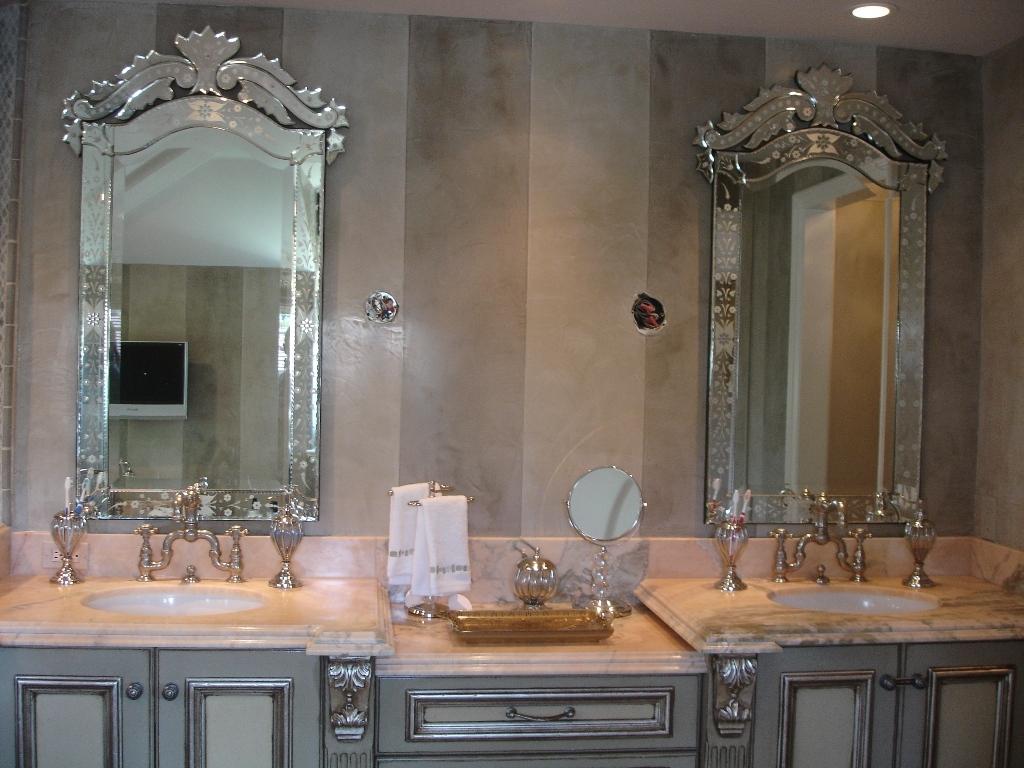 Venetian Style Bathroom Mirror