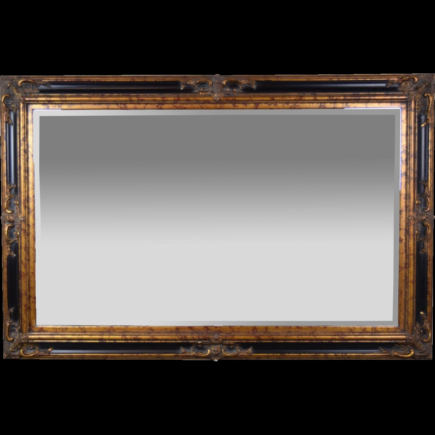 Vintage Beveled Glass Wall Mirror