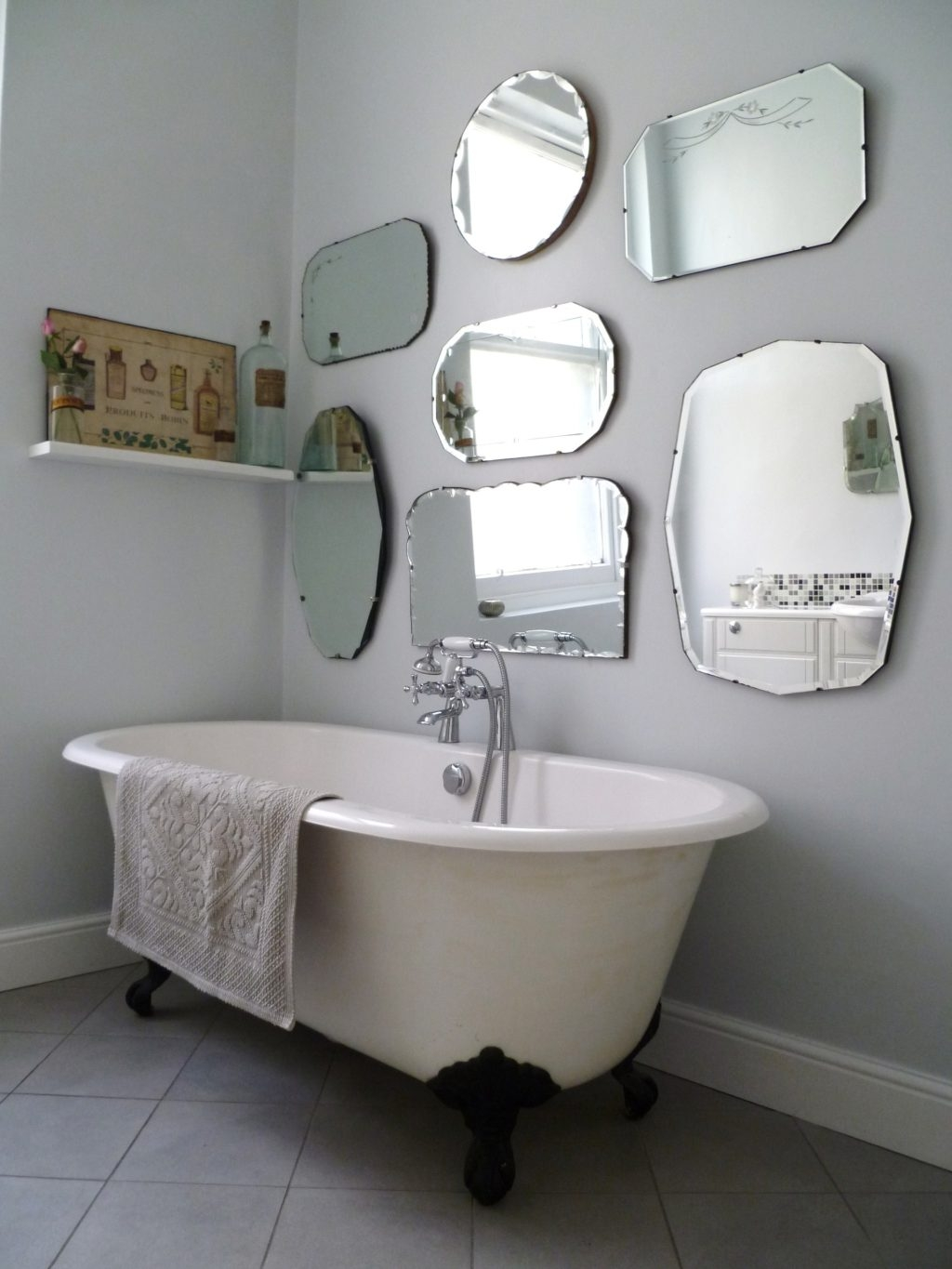 Vintage Industrial Bathroom Mirror