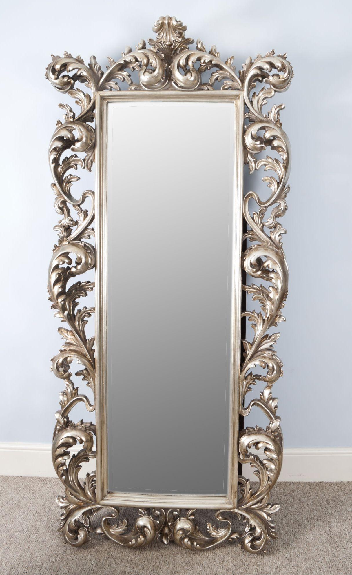Vintage Silver Wall Mirror