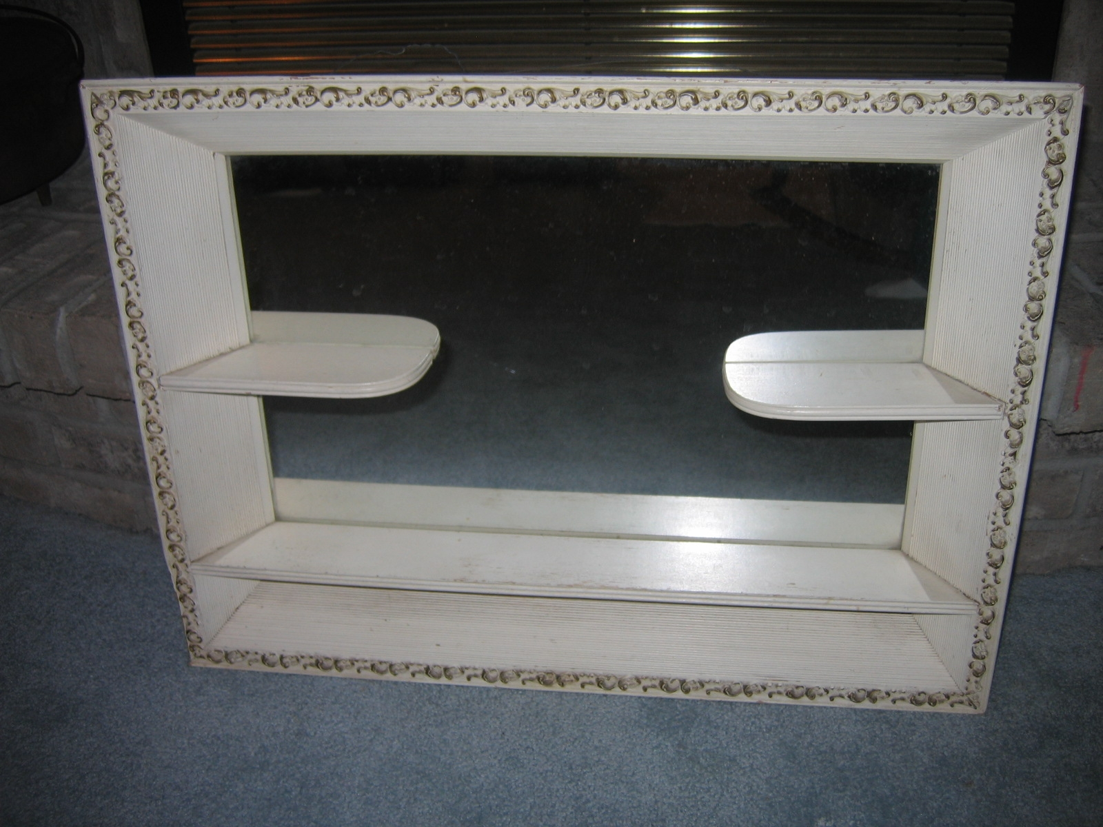Vintage Wall Mirror With Shelf