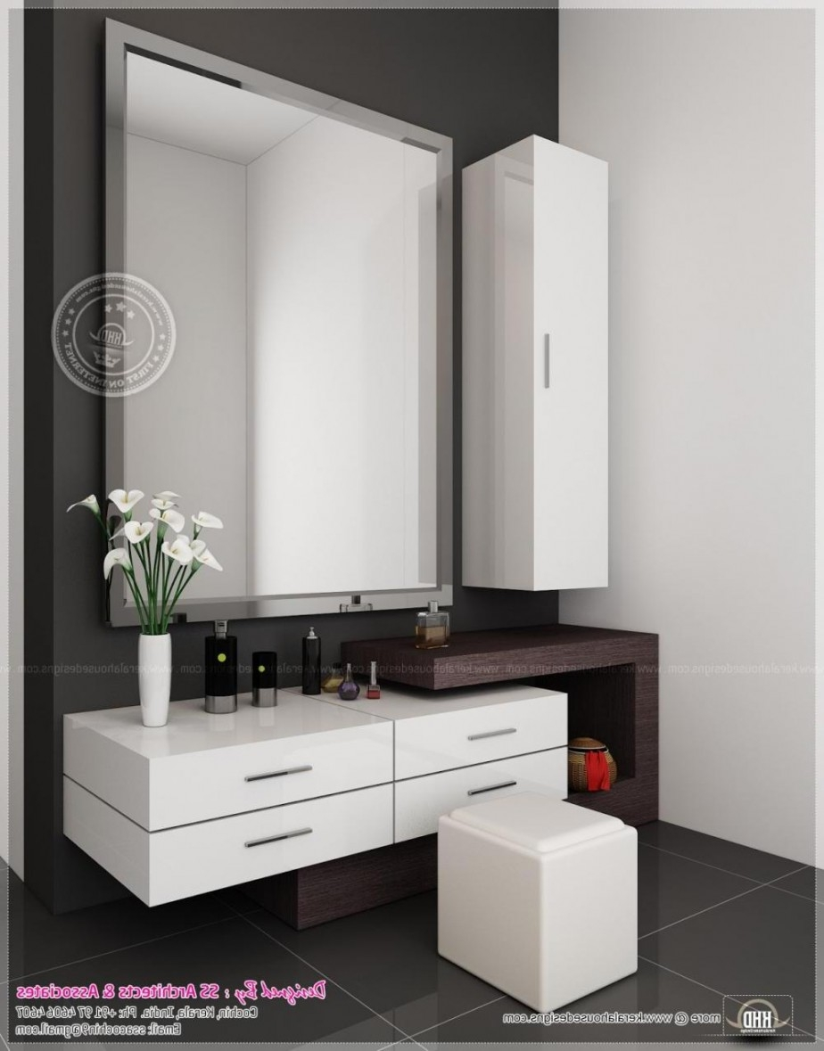 Wall Dressing Table With Mirror