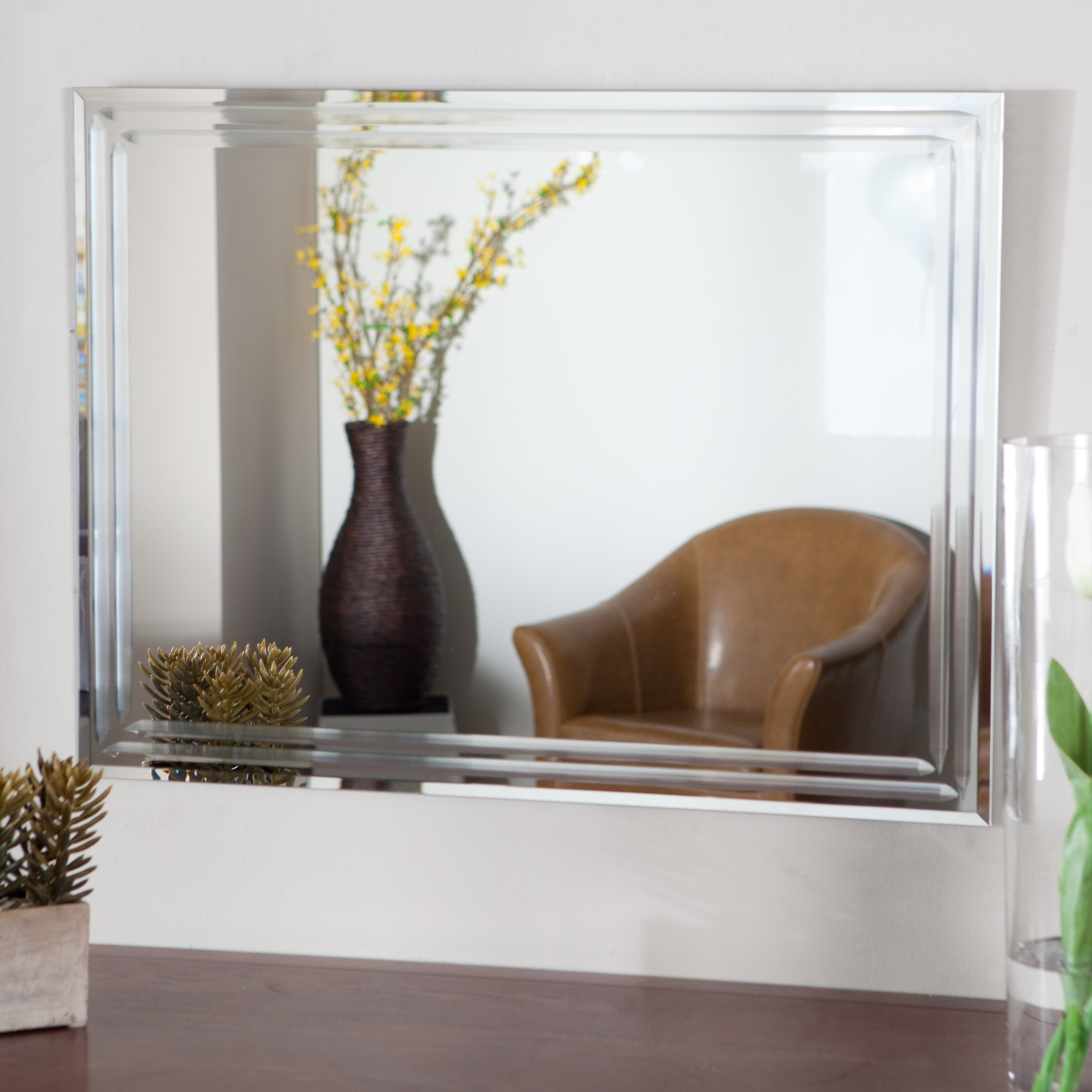 Wall Mirror Beveled Frameless