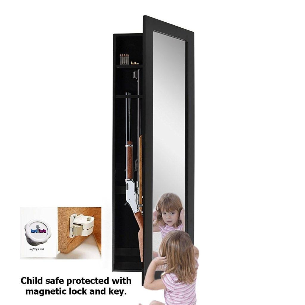 Wall Mirror Gun Cabinet