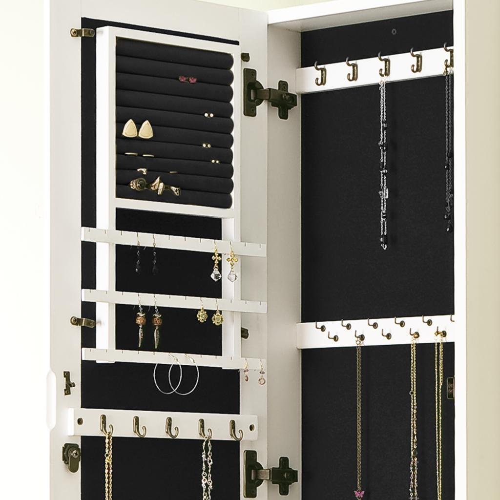 Wall Mirror Jewelry Storage