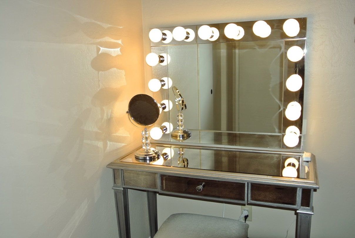 Wall Mirror With Lights Bedroom