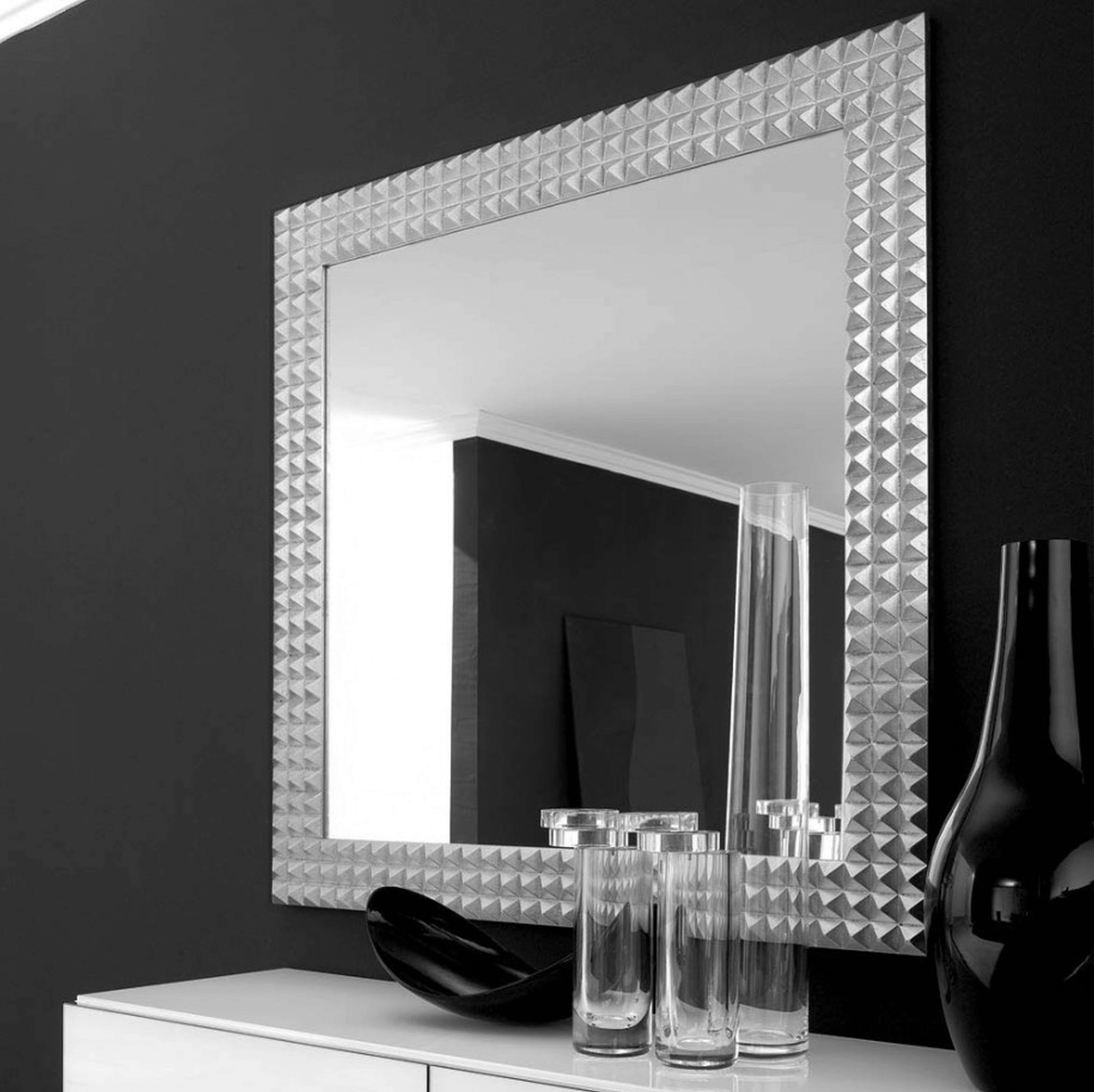 Wall Mirrors Black And Silver