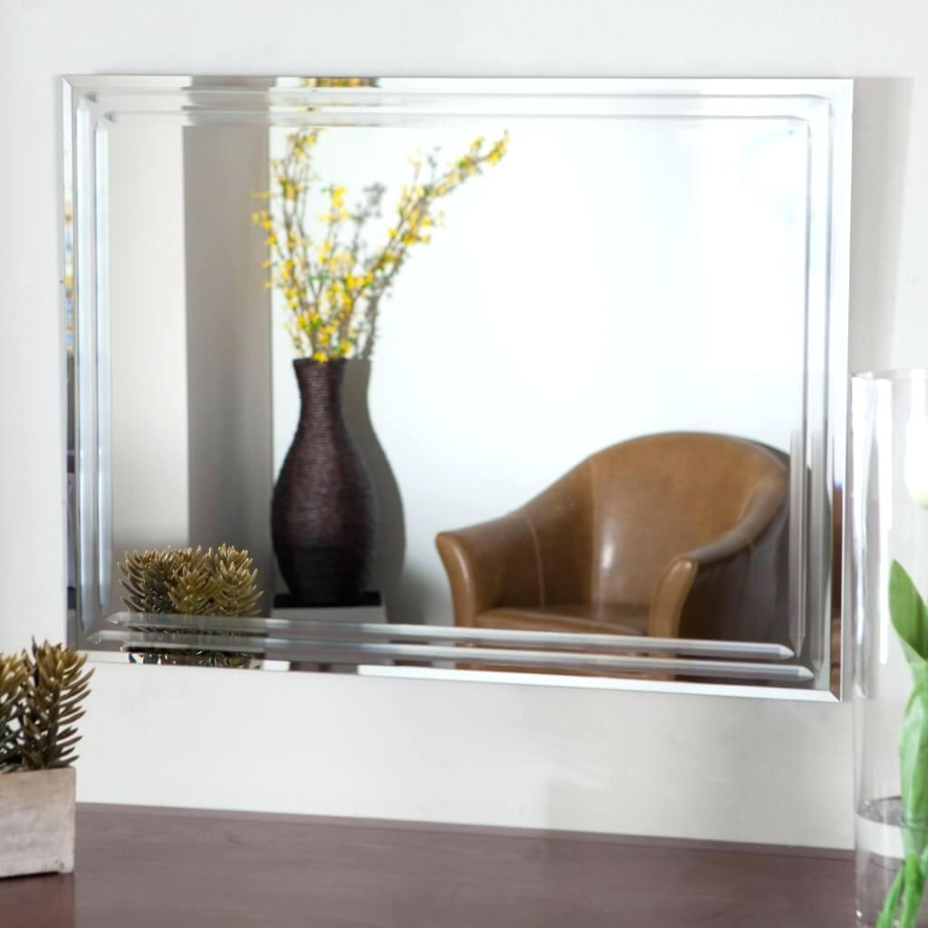 Wall Mirrors Large Frameless