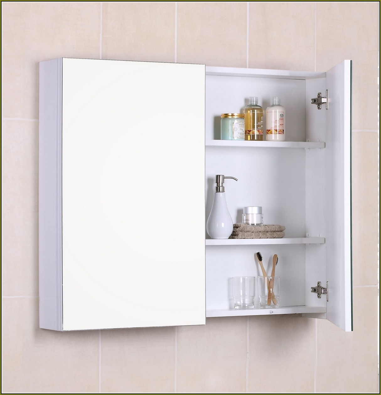 Wall Mount Medicine Cabinet Without Mirror