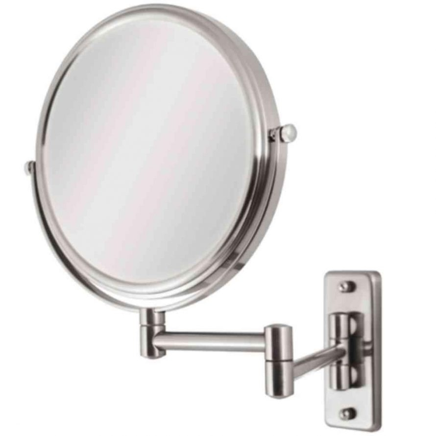 Wall Mounted 10x To 1x Magnifying Mirror Extends 14 Chrome