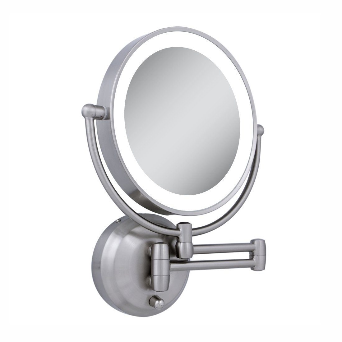 Wall Mounted Extendable Lighted Mirror