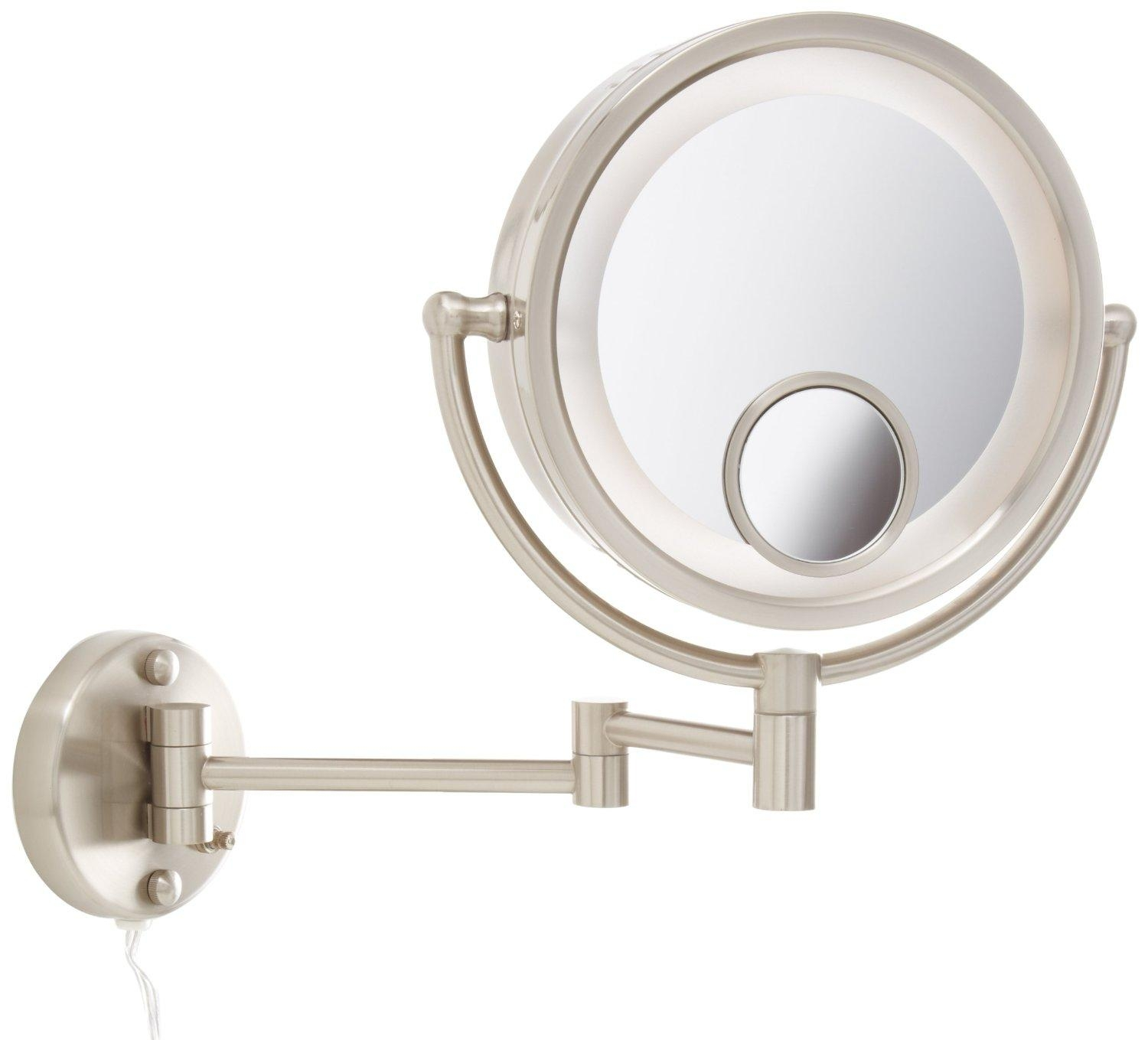 Wall Mounted Lighted Magnifying Bathroom Mirror
