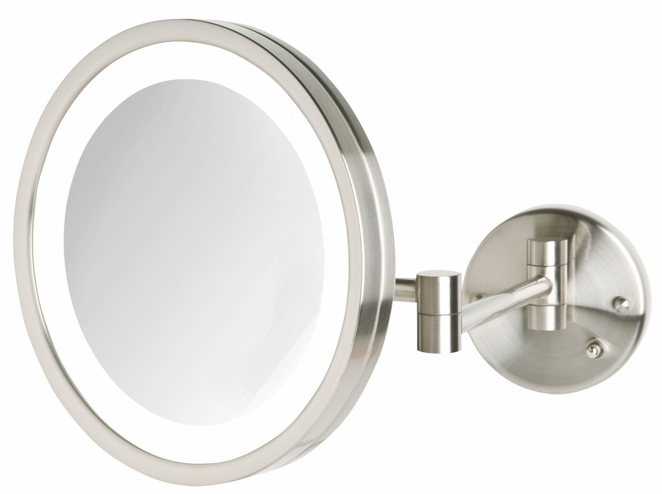 Wall Mounted Lighted Magnifying Mirror Chrome