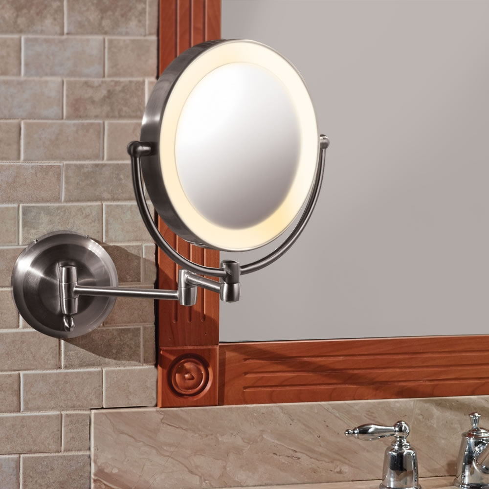Permalink to Wall Mounted Lighted Makeup Mirror Battery