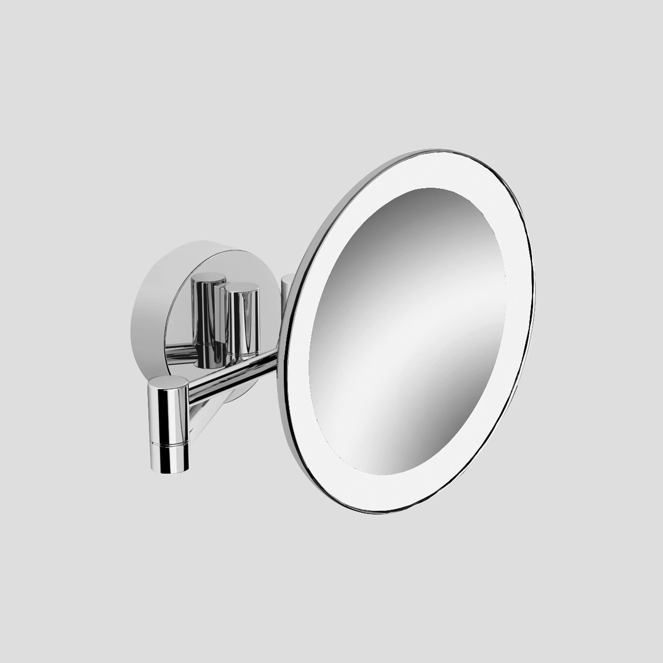 Wall Mounted Magnifying Bathroom Mirror With Lighted