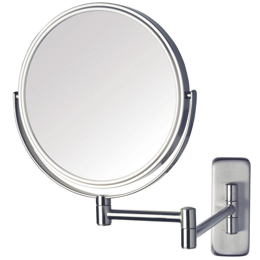 Wall Mounted Magnifying Mirror Polished Nickel