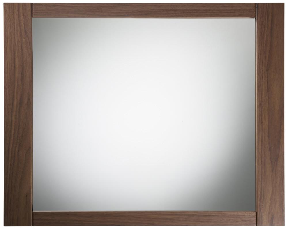 Permalink to Walnut Framed Bathroom Mirror