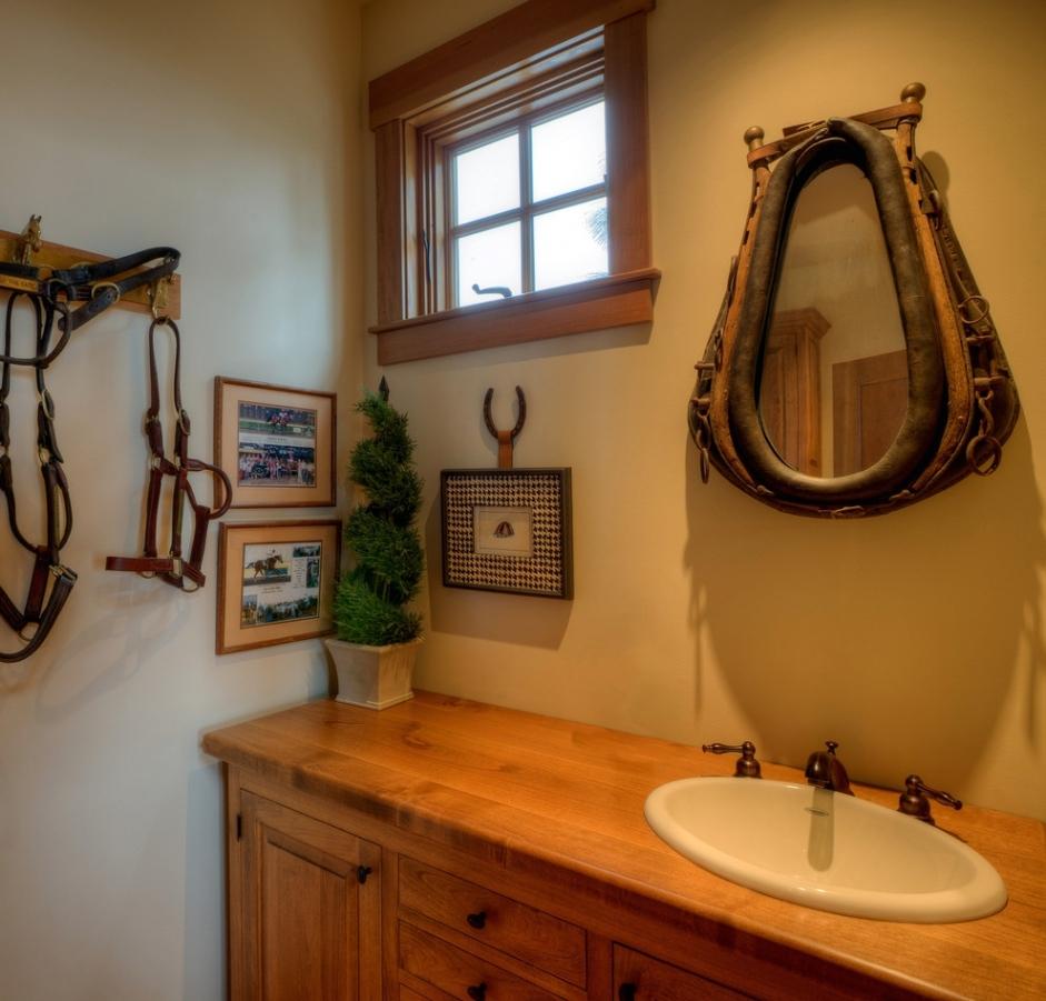 Western Decor Bathroom Mirrors