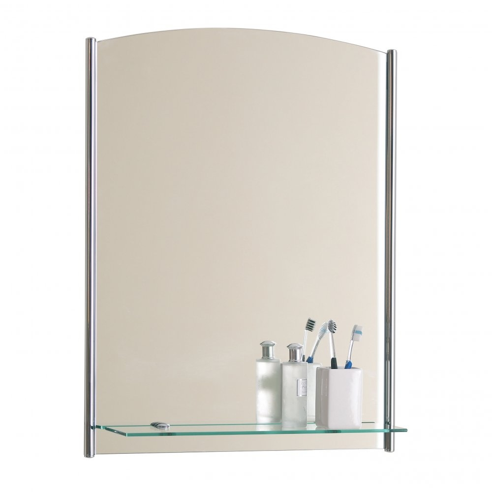 White Bathroom Mirrors With Shelf