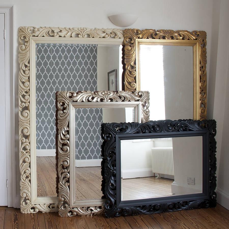 White Casbah 45 High Decorative Wall Mirror