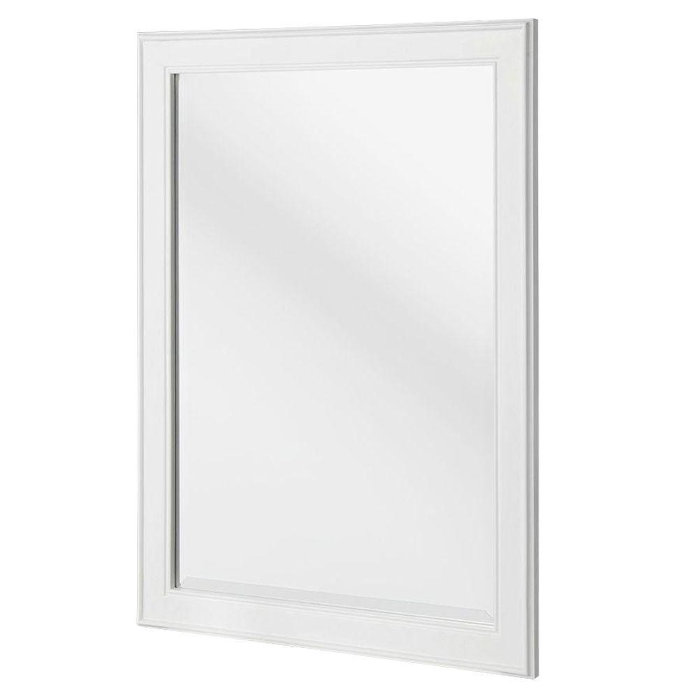 White Framed Rectangular Wall Mirror