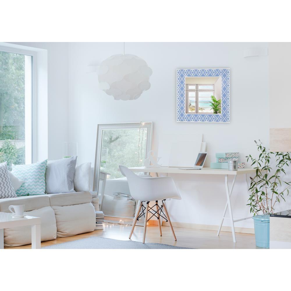 White Geometric Wall Mirror