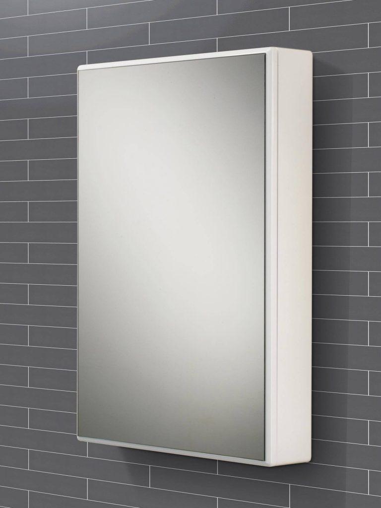 White Gloss Bathroom Mirror Cabinet